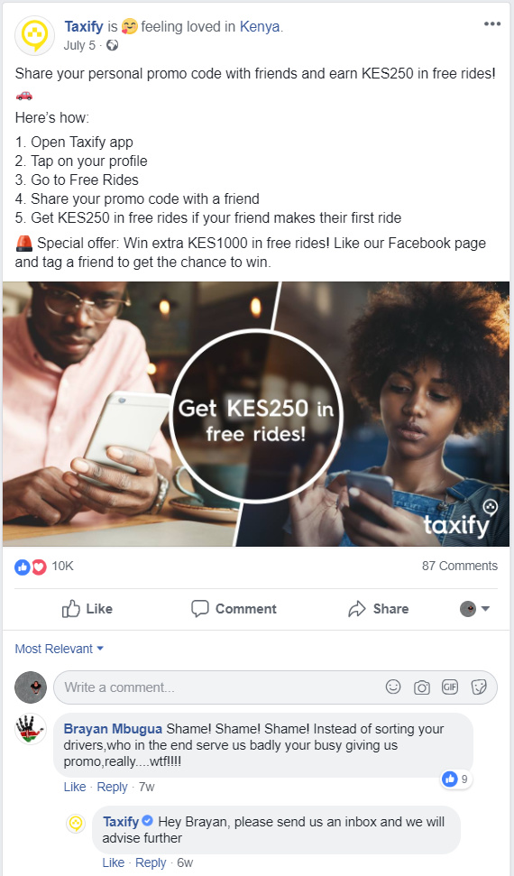 Taxify needs more than a Marketing Manager - Social Media - Techweez